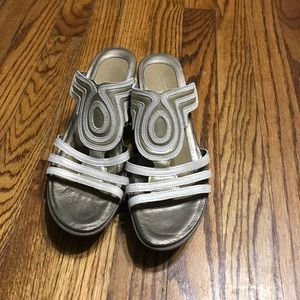 Nato wedges sandals leather size 9